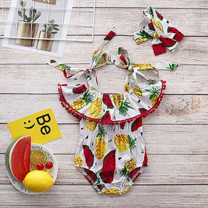 Pineapple Bodysuit and Bowknot Headband, zoerea.com