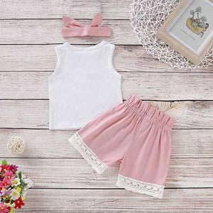 Sweet Heart Top And Solid Shorts Set, zoerea.com