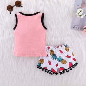 Smile Watermelon Tank And Shorts Set, zoerea.com