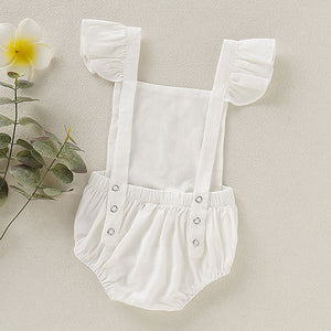 Cute Ruffle-sleeve Girl Bodysuit, zoerea.com