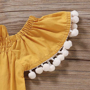 Ruffled Solid Color Bodysuit And Headband, zoerea.com