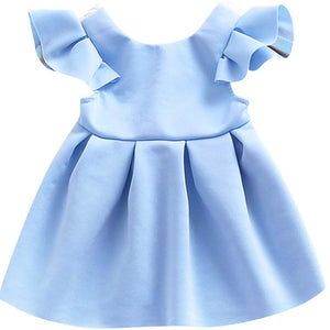 Cute Ruffled-sleeve Dress For Baby Girl, zoerea.com