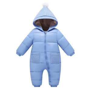 Warm Padded Brushed Hooded Jumpsuit, zoerea.com