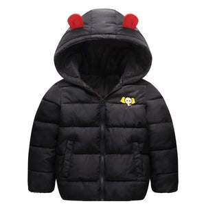 Warm Elephant Decor Long-sleeve Hooded Coat, zoerea.com