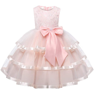 Bowknot Ruffled Lace Decor Princess Dress, zoerea.com