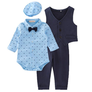 Infant Baby Toddler Boys Clothes Gentleman Vest Suit Outfit Set, zoerea.com