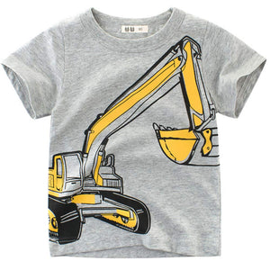 Stylish Excavator / Car Print Short-sleeve T-shirt, zoerea.com