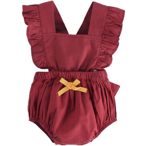 Ruffle-sleeve Bodysuit for Baby Girl, zoerea.com