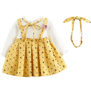 Baby Girl's Cartoon Allover Faux-two Dress, zoerea.com