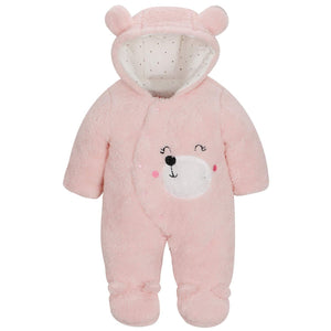 Comfy Bear Ears Hooded Footed Jumpsuit, zoerea.com