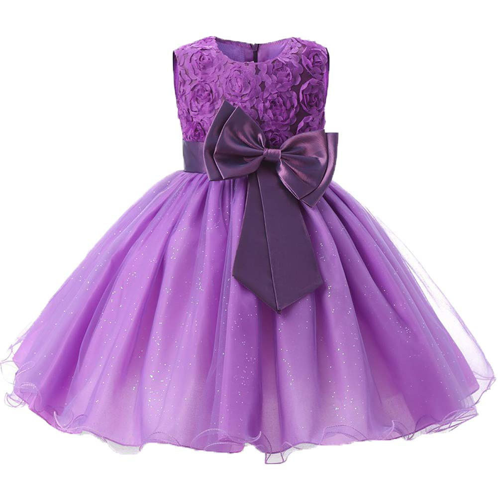Cute Toddler Kids Baby Girls Princess Floral Party Tutu Tulle Dress Formal Dress