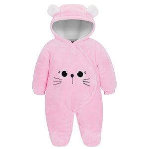 Warm Animal Design Hooded Footed Jumpsuit, zoerea.com