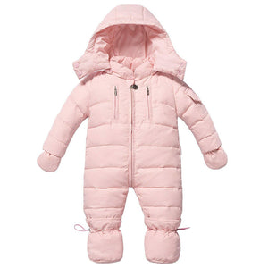 Warm Long-sleeve Hooded Footed Romper, zoerea.com