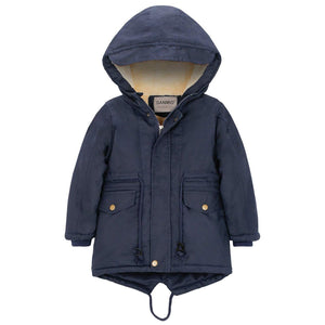 Comfy Long-sleeve Hooded Winter Coat, zoerea.com