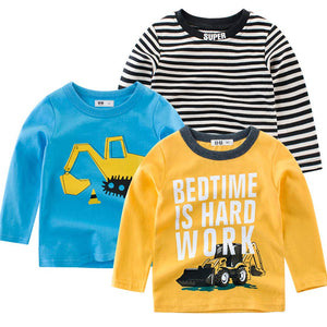 Trendy Dinosaur / Striped / Letter Print 3 T-shirts Set, zoerea.com