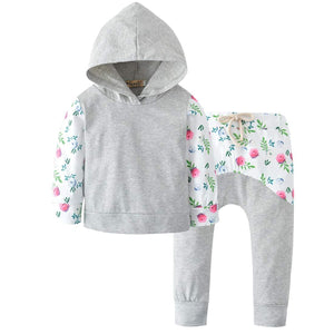 2-piece Casual Long-sleeve Hooded And Pants Set, zoerea.com