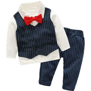 Cool Shirt Striped Vest And Pants Set - zoerea.com