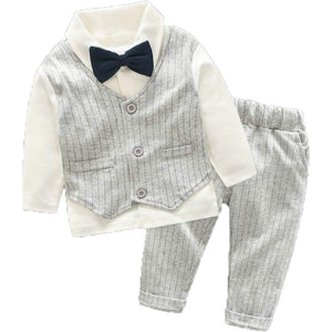 Cool Shirt Striped Vest And Pants Set, zoerea.com
