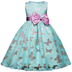 Beautiful Print Solid Bowknot Decor Dress, zoerea.com