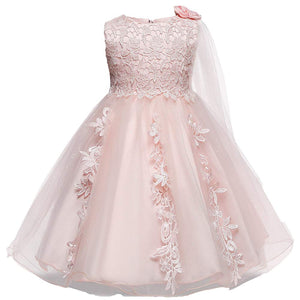 Bowknot Decor Embroidery Sleeveless Dress, zoerea.com