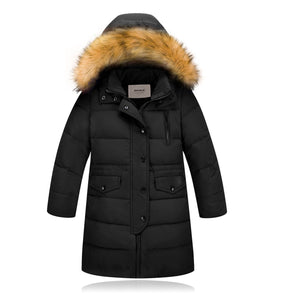 Stylish Duck-lining Hooded Long Down Jacket, zoerea.com