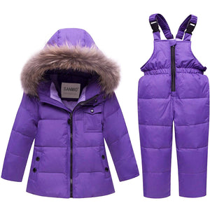 Stylish Hooded Coat And Bib Pants Set, zoerea.com