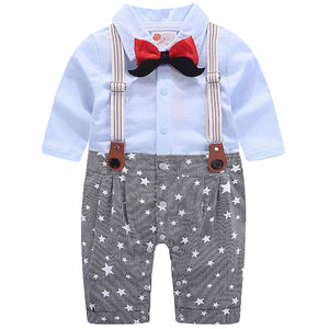 Chic Faux-two Bow Tie Decor Jumpsuit, zoerea.com