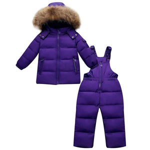 2-piece Hooded Down Jacket And Pants Set, zoerea.com