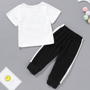 Baby Boys' Casual Letter Print Short Sleeve Regular Clothing Set, zoerea.com