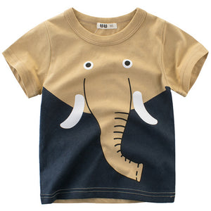 Lovely Lion Print Short-sleeve Tee, zoerea.com