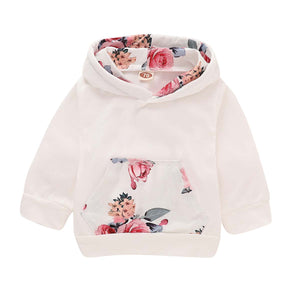 Beautiful Floral Long-sleeve Hoodie, Pants and Headband Set, zoerea.com
