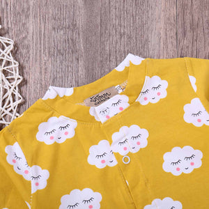 Baby Smile Cloud Print Jumpsuit, zoerea.com