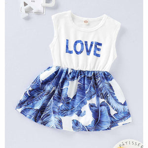 Letter Print And Feather Pattern Splice Dress, zoerea.com