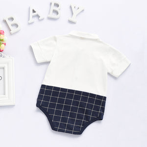 Plaid Bow Bodysuit for Baby Boy, zoerea.com