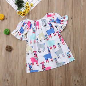 Christmas Kid Toddler Baby Girl Princess Animal Short Sleeve Dress, zoerea.com