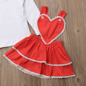 Toddler Kids Baby Girl Xmas Tops Layered Bib Dress Headband Outfits, zoerea.com