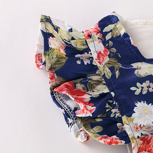 Baby Girls'  Basic Daily / Holiday Floral Printing Sleeveless Bodysuit, zoerea.com