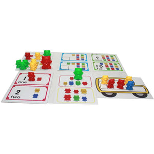Counting Bears With Stacking Cups Montessori Rainbow Matching Game Toys, zoerea.com