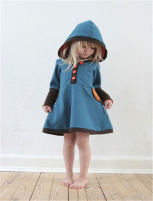 Kids Baby Girls Hooded Clothes Long Sleeve Princess Party Tutu Dress, zoerea.com