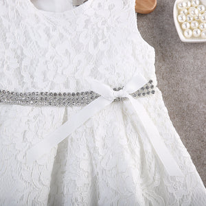 Baby Girl Lace Flower Pageant Bridesmaid Party Formal Princess Dress, zoerea.com