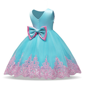 Baby Kids Girl Party Bow Princess Flower Wedding Bridesmaid Dress, zoerea.com