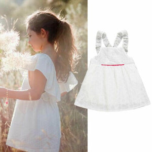 Girls Clothing White Beading Princess Party Summer Dresses For Girl, zoerea.com