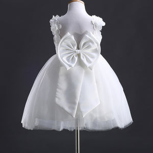 Girl Kid Formal Lace Bow Princess Bridesmaid Flower Wedding Dress, zoerea.com