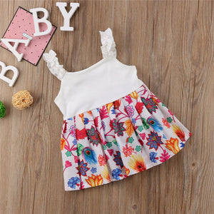 0-24M Baby Girl floral dress baby girl cotton fashion dress baby dress, zoerea.com