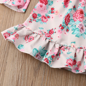 Toddler Kids Baby Girls Flowers Princess Party dress Off Shoulder, zoerea.com