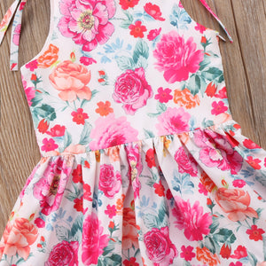 Kid Baby Girl Floral Princess Strap Sundress Summer Casual Dress, zoerea.com