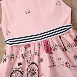 Pink Baby Kids Girls Princess Party Bubble Beauty Anime Formal Dress, zoerea.com