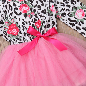 Floral Toddler Kids Baby Girls Dress Princess Pageant Party Lace Dress, zoerea.com