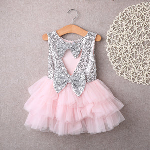 Kids Baby Girl Sequins Dress Party Dresses Bridesmaid Dress Gown baby, zoerea.com