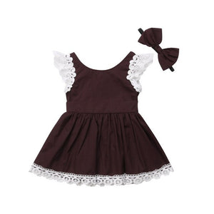 Toddler Kid Baby Girls Lace Princess Party Pageant Dress Sundress, zoerea.com